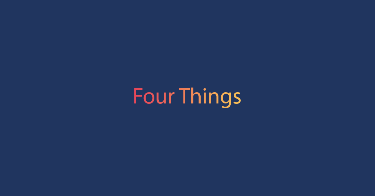 Four Things for Chart