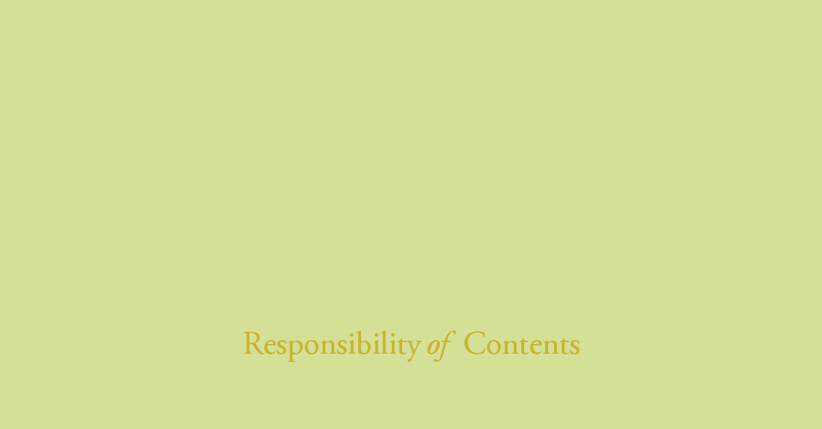 Responsibility of Contents